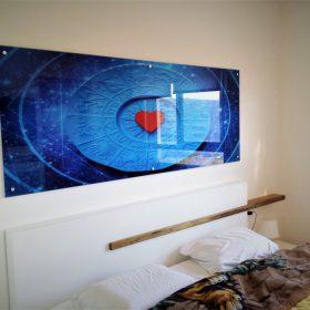 הדפסה על זכוכית לחדר שינה