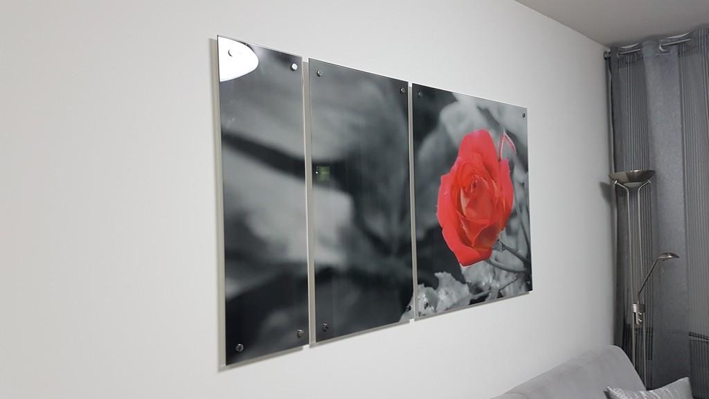 הדפסה על זכוכית קולאג לסלון
