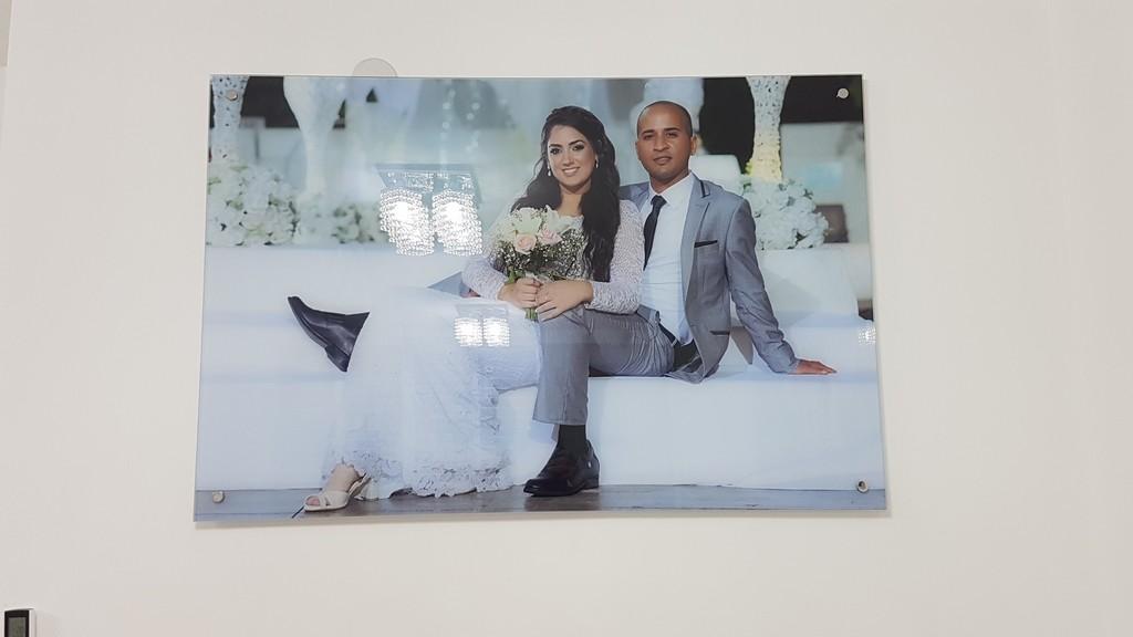 הדפסה על זכוכית חתונה