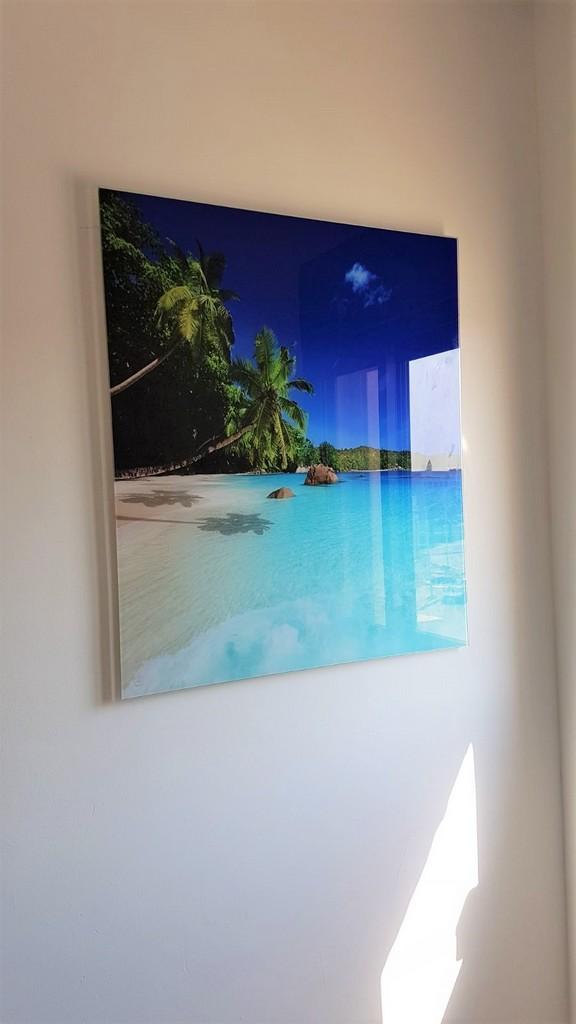 הדפסה על זכוכית נוף ים