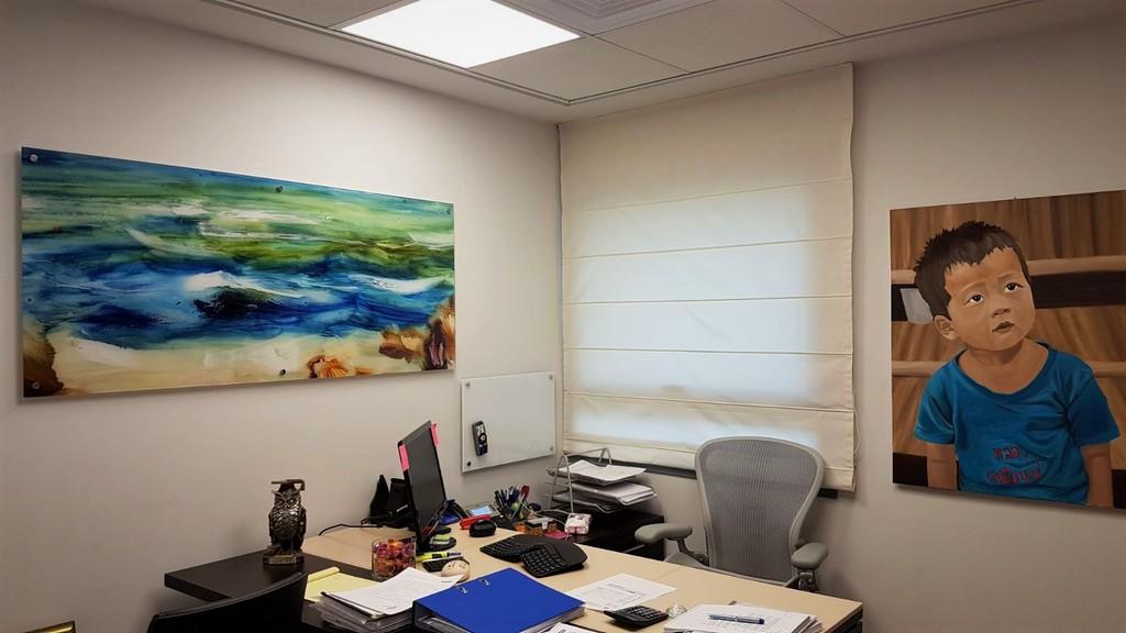 הדפסה על זכוכית חדר מנהלת מוסקוביץ אזרואל