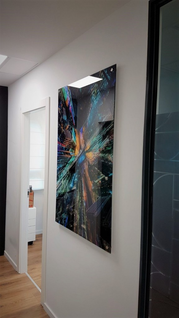 הדפסה על זכוכית מסדרון מוסקוביץ אזרואל