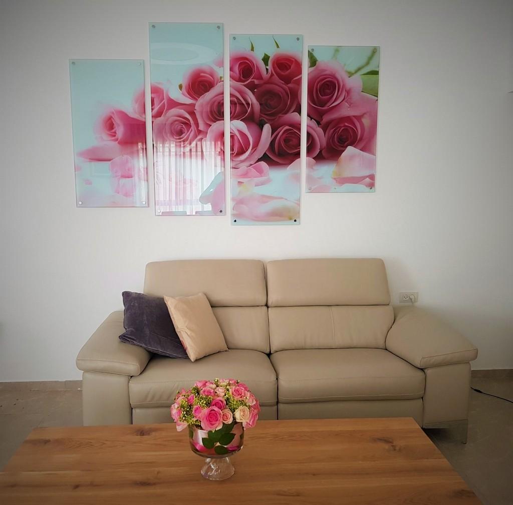 הדפסה על זכוכית פרחים קולאג'