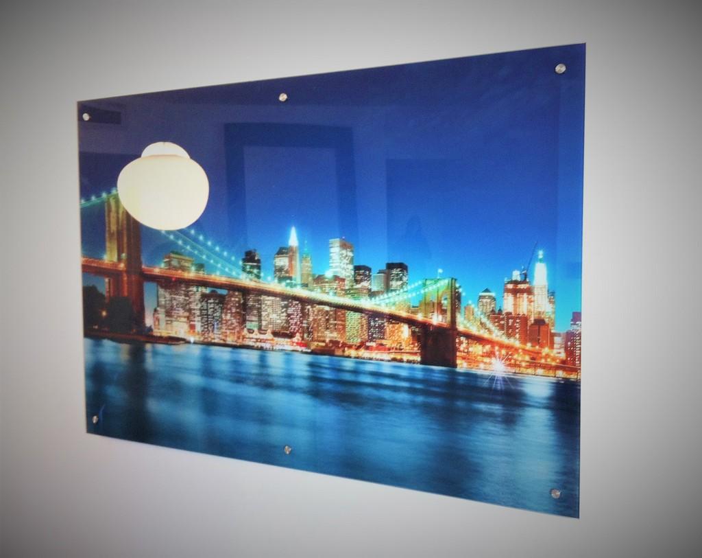 הדפסה על זכוכית ניו יורק