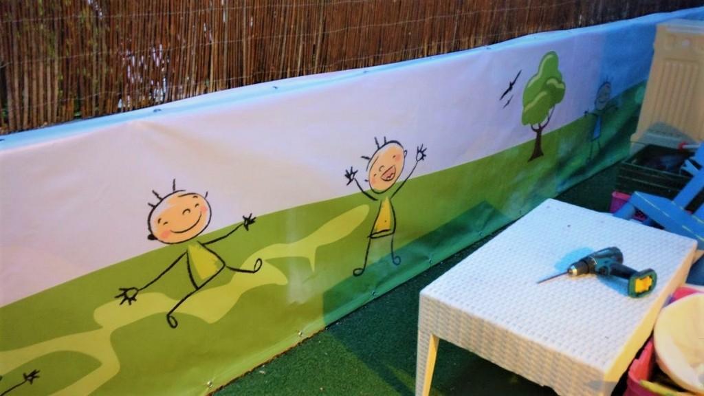 הדפסה על שמשונית גן ילדים