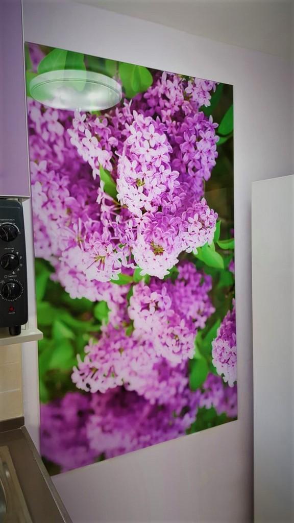 הדפסה על זכוכית פרחים
