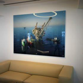 הדפסה על זכוכית ענק למשרד