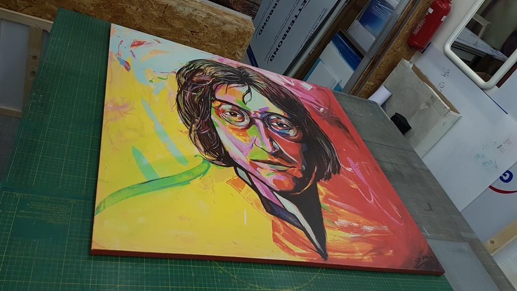 הדפסה על קנבס ג'ון לנון