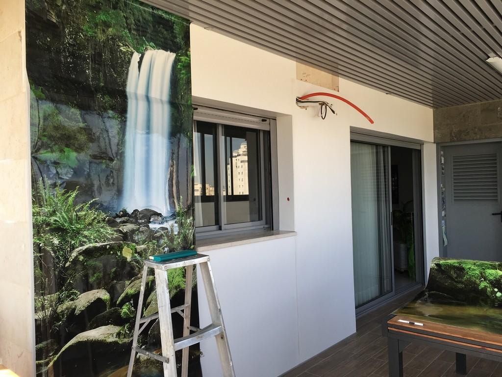ציפוי PVC לקיר