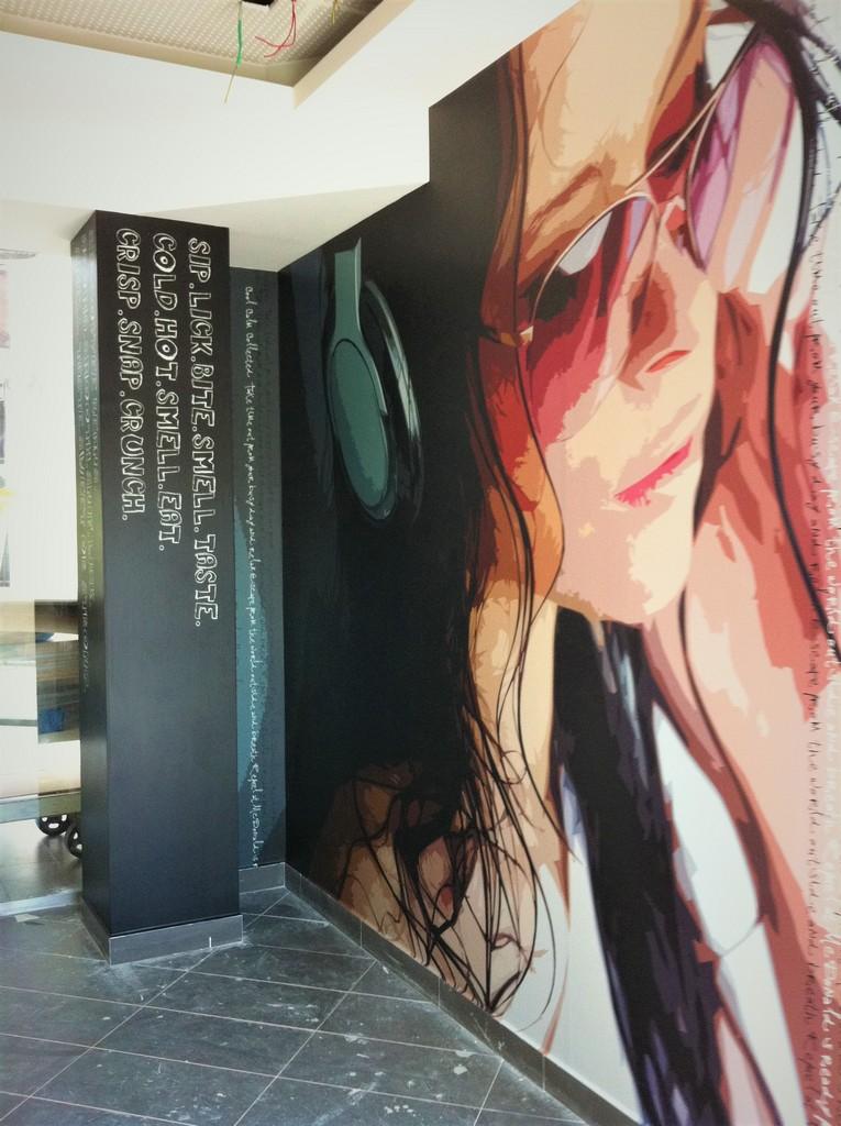 מדבקת קיר אומנותית