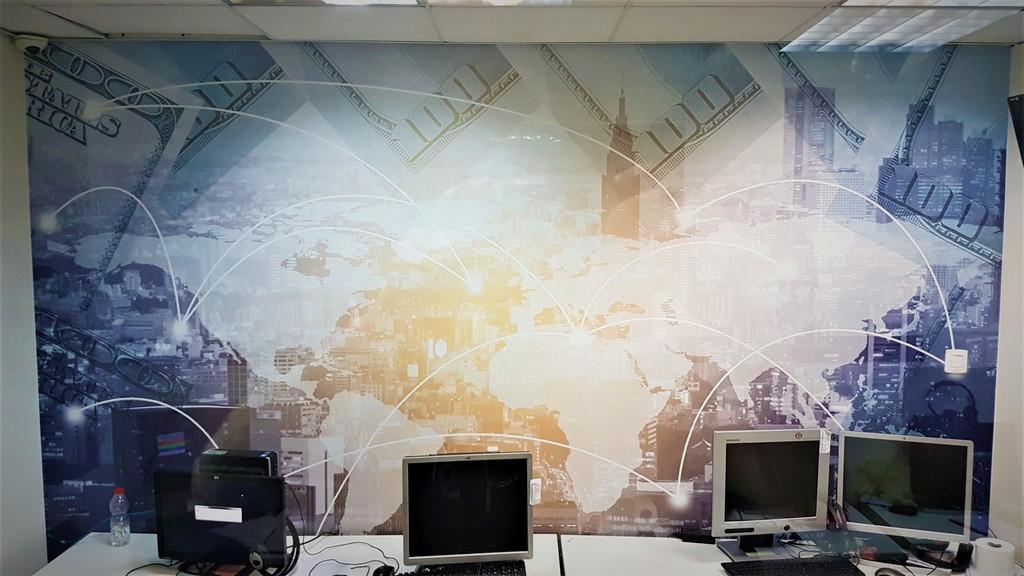 מדבקת קיר משרד כספים