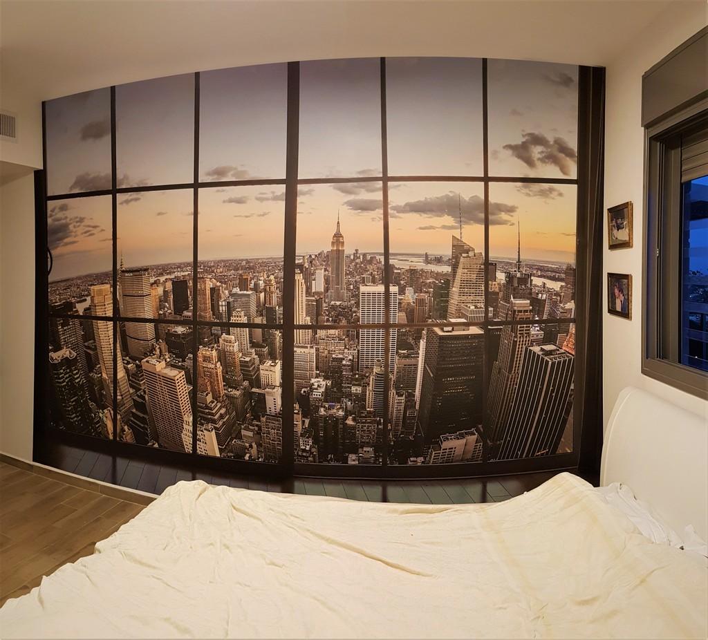 מדבקת קיר תלת מימד חלון ניו יורק