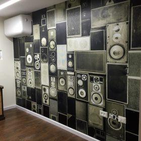 מדבקת קיר תלת מימד רמקולים