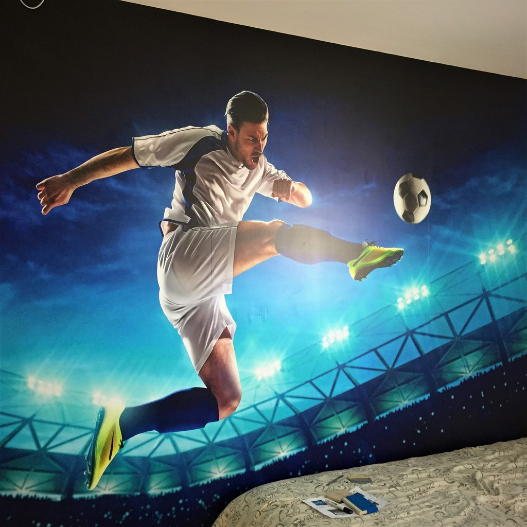 מדבקת קיר תלת מימד כדורגל
