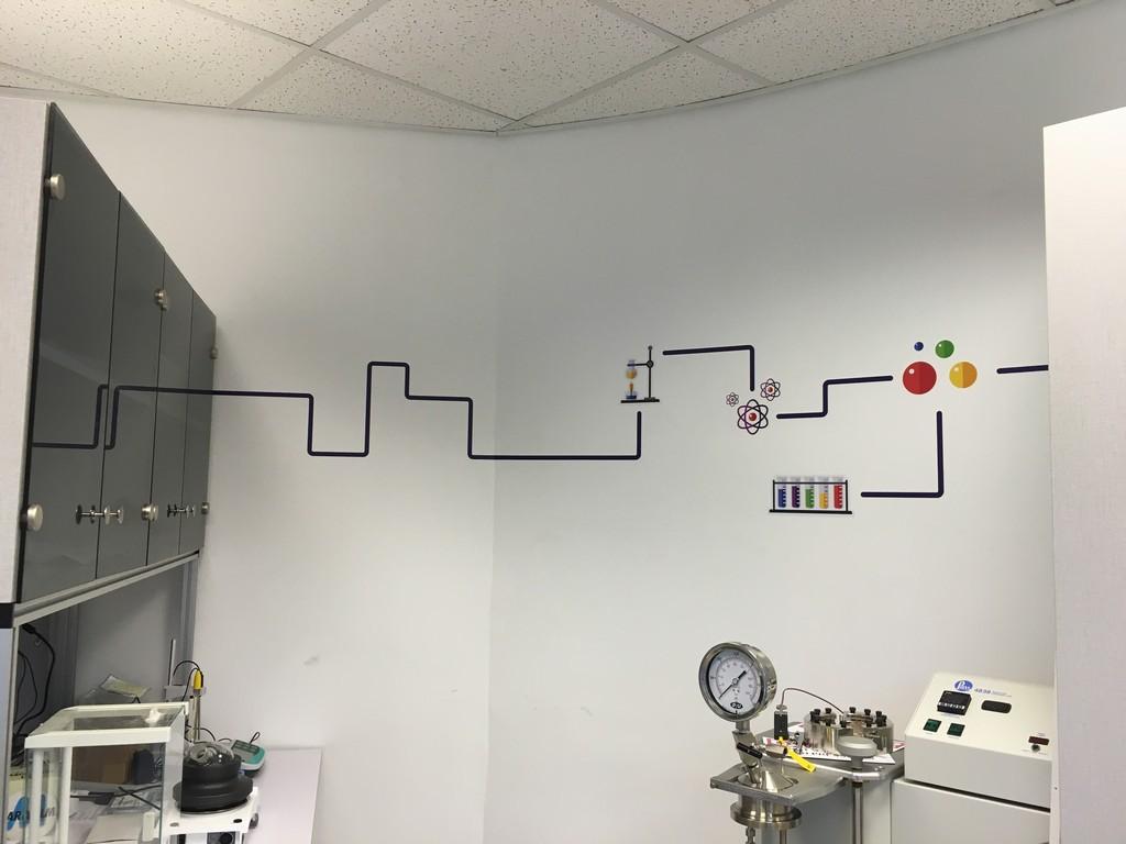 מדבקת צורנית מעבדה