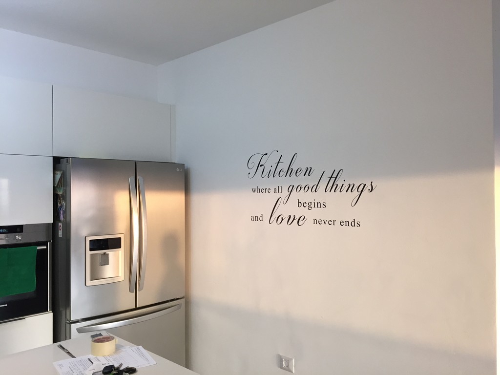 מדבקת כיתוב למטבח