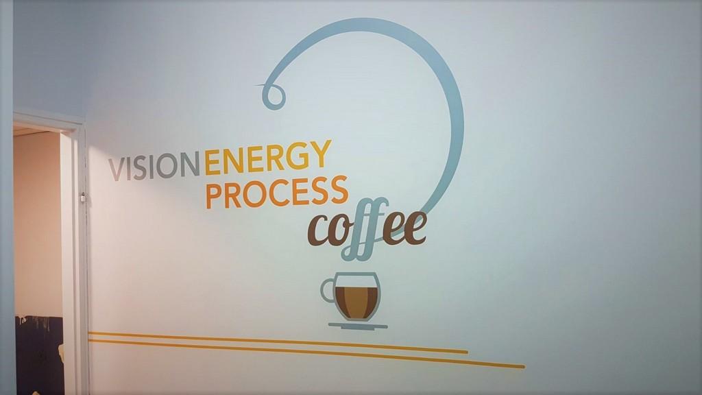 מדבקה צורנית קפה