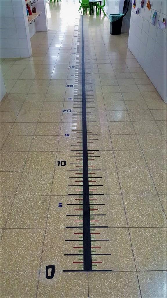 מדבקת רצפה סרגל בית ספר