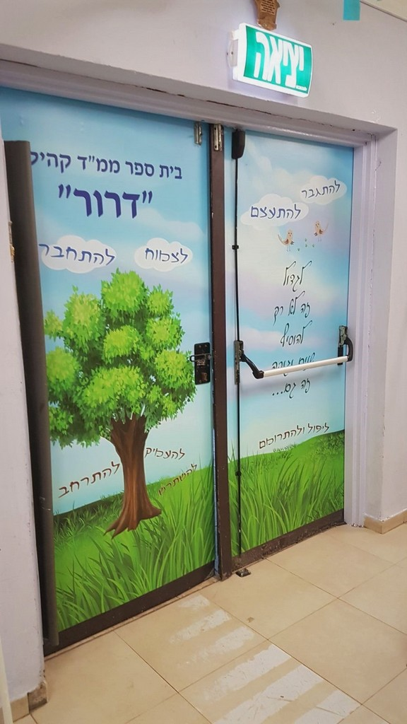 חידוש דלתות במדבקה
