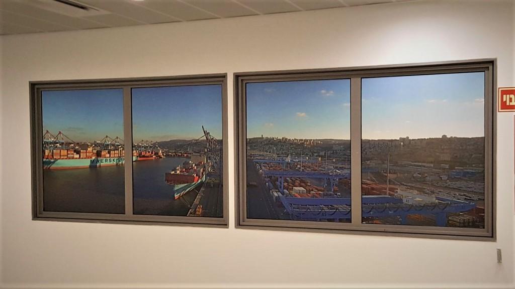מדבקה לחלון נמל חיפה