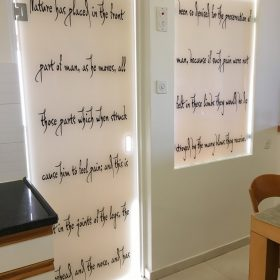 דלת זכוכית מודפסת
