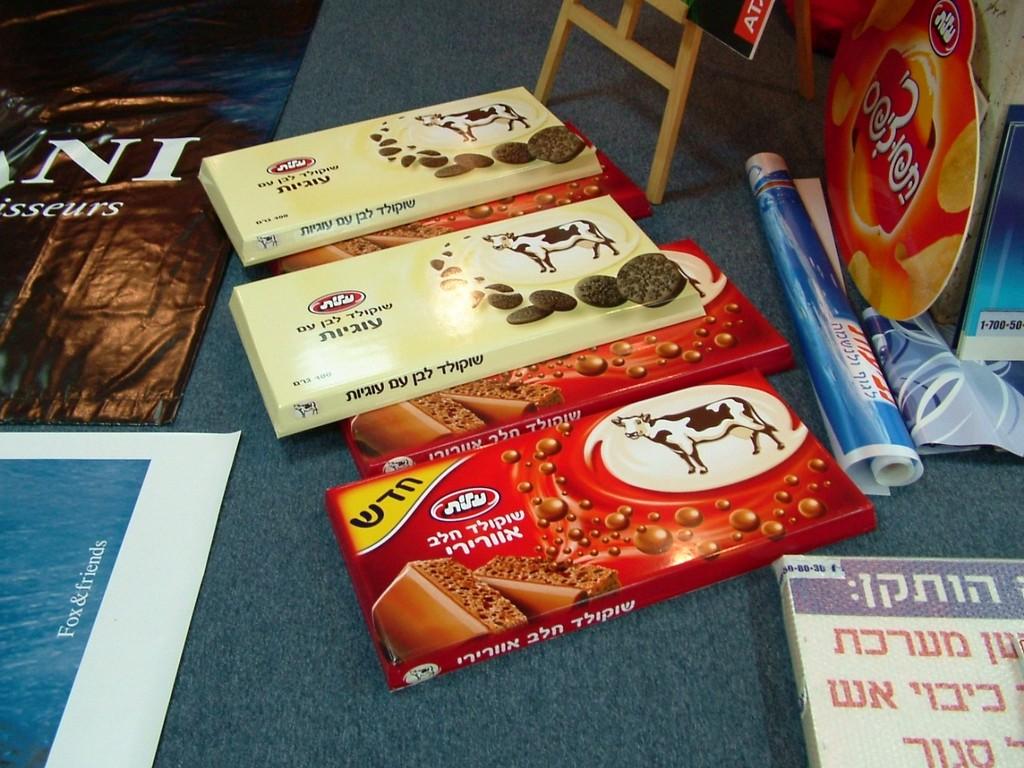 הגדלת מוצרים שוקולד פרה