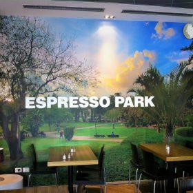 מדבקת קיר אספרסו פארק