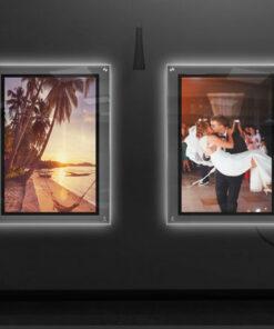 תמונה מוארת לייטבוקס לקיר