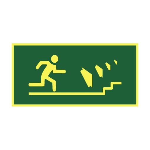 שלט כיוון יציאה למדרגות ימינה למעלה