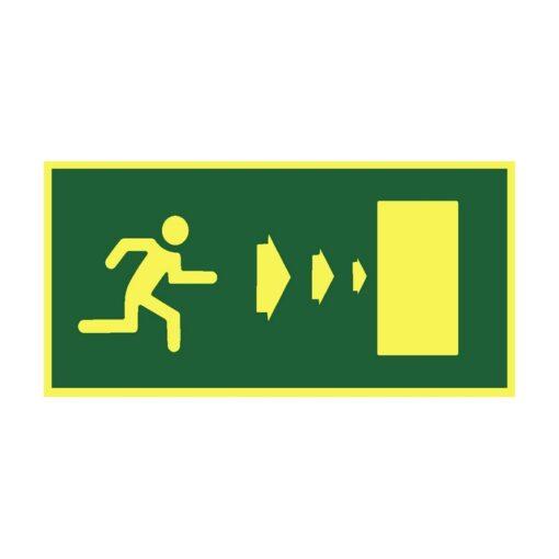 שלט כיוון דלת יציאה ימינה