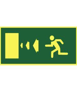 שלט כיוון דלת יציאה שמאלה