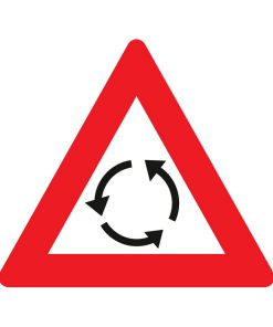 תמרור מעגל תנועה בצומת שלפניך