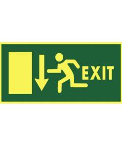 שלט כיוון דלת יציאה למטה