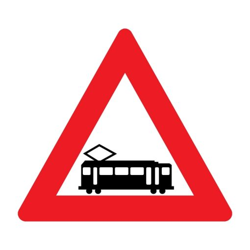 תמרור רכבת מקומית חוצה