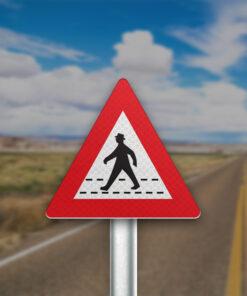 תמרור מעבר חצייה להולכי רגל