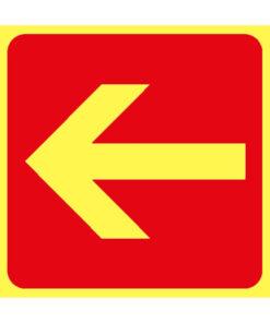 שלט מרובע חץ אדום