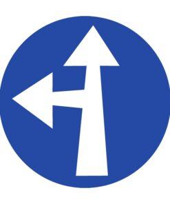 תמרור סע ישר או שמאלה