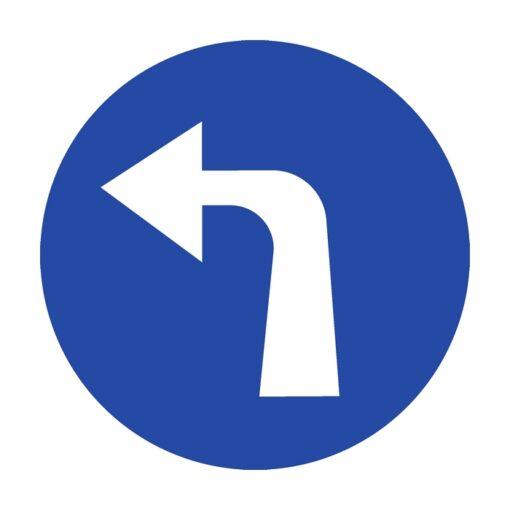 תמרור סע שמאלה אחרי התמרור