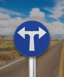 תמרור סע ימינה או שמאלה