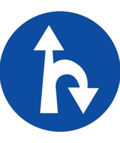 תמרור סע ישר או בפנית פרסה ימינה