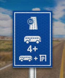תמרור כביש או נתיב אגרה