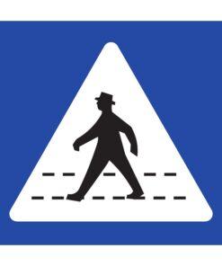 תמרור תן זכות קדימה להולכי הרגל החוצים