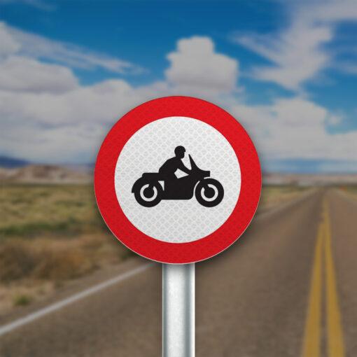תמרור אסורה הכניסה לאופנוע