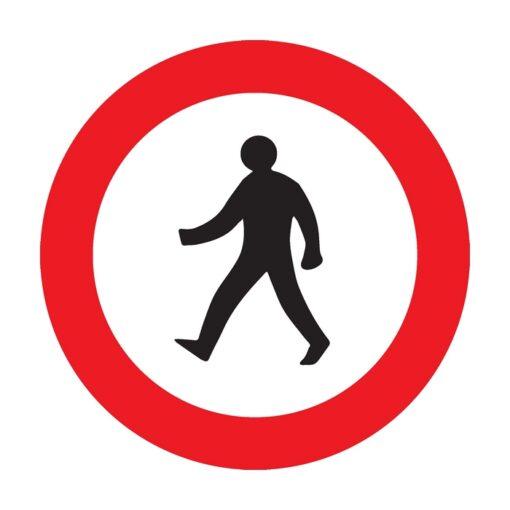 תמרור אסורה הכניסה להולכי רגל