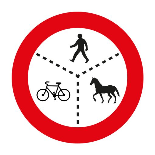 אסורה הכניסה לרכב עבודה, לטרקטור, לבעלי חיים, לאופניים ולהולכי רגל. צויינו שלשה או פחות מסוגי המשתמשים בתמרור, יחולו הוראות התמרור על פי המצוין בו