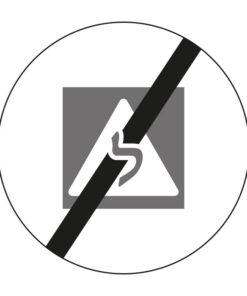תמרור קצה האזור האסור ללימוד נהיגה