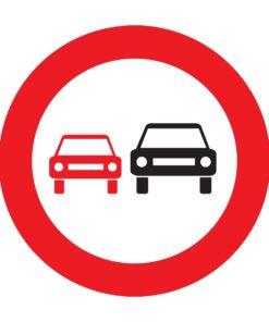 תמרור אסור לעקוף או לעבור