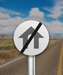 תמרור קצה אזור דרכים עירוניות