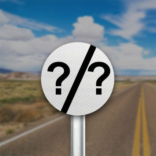 תמרור קצה הקטע של מהירות מיוחדת/מותרת