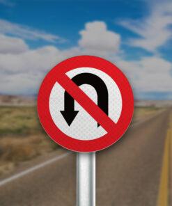 תמרור אסורה הפניה שמאלה